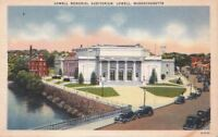 Postcard Lowell Memorial Auditorium Lowell MA