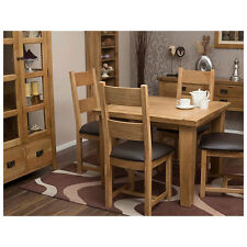 Solid Oak Dining Table and 4 Chairs Light Oak Dining Table and Chairs Furniture