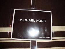 New Michael Kors Taos Brown King Bed Skirt