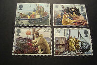 GB 1981 Commemorative Stamps~Fishing~Very Fine Used Set~(ex fdc)UK Seller