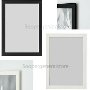 Ikea Fiskbo Photo A4 Frame Black White Hanging Standing Wall Mount