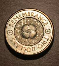 2012 $2 dollar Australian GOLD POPPY Coin- Low Mintage Commemorative High Grade