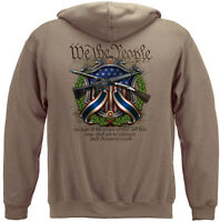 2nd Amendment Hooded Sweatshirt 2A 3/% American Flag Spartan Warrior Hoodie S-5XL
