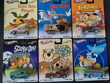 HOTWHEELS Pop Culture Nostalgia 2012 - HANNA BARBERA Set of 6 Cars 1:64 Diecast