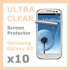 10 x Crystal Clear LCD Screen Protector Film Guard for Samsung Galaxy S3 SIII S