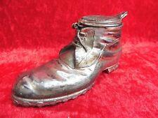 Ancienne Tirelire__ Métal Argenté __Chaussure__ Gotha Um 1900