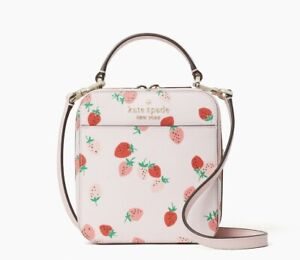 💚 NWT Kate Spade Daisy Wild Strawberries Vanity Crossbody Bag Purse Pink Multi