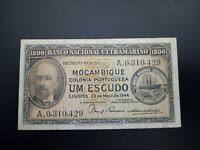 Banknote Mocambique 1944(VF)1 escudos(Portugal)