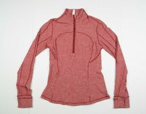 Lululemon Red T3 1/2 Zip Athletic Athleisure Yoga Track Jacket Womens sz 6