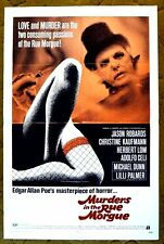MURDERS IN THE RUE MORGUE - poster; Jason Robards, Herbert Lom