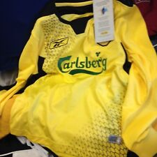 LIVERPOOl AWAY 2001/2 24/26 28/3 30/32 INCH BNWL AT £10   IN  YELLOW long sleeve
