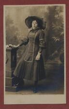 Leeds. H Tawson. , 18 Lands Lane.  Young Lady costume photograph PC qj128