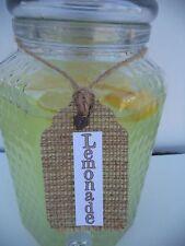 Primitive Country Wedding Cream Beverage Container Over 21 Tea Lemonade Tags