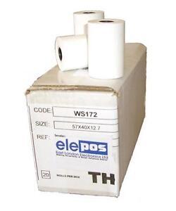 CREDIT CARD Rolls, PDQ Rolls & TILL THERMAL PAPER , Thermal Rolls - 20 ROLLS