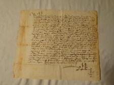 Antiguo Italia 1517 documento manuscrito firmado nicholaus italiano 16thC #Y104