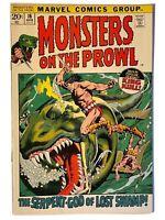 MONSTERS ON THE PROWL #16 King Kull (1972) Marvel Comics VF- 7.5