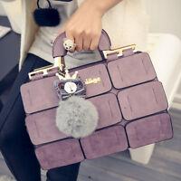 Women Bag Suture Boston Bag Inclined Shoulder Bag Women Leather Handbag
