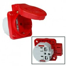 Anbau-/Einbau-Schuko-Steckdose 16A 250V IP54 rot v.PCE 105-0r
