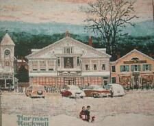 "Norman Rockwell Home For Christmas Jacquard Tapestry fabric Panel 18"" square NEW"