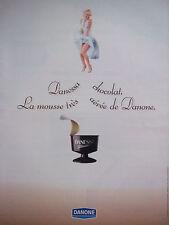 PUBLICITÉ 1991 DANESSA MOUSSE DE DANONE - MARILYN MONROE - ADVERTISING