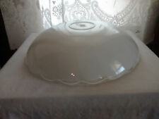 VINTAGE Frosted Clear Glass Ceiling Light Fixture Globe Shade Scalloped LARGE