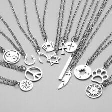 Compass Pendant Men Necklace Stainless Steel Long Choker Lovers Jewelry Gifts