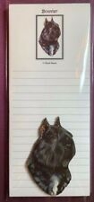 Bouvier des Flandres Notepad and Wood Magnet