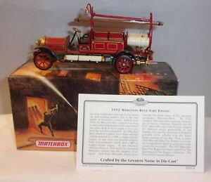 MJ7 Matchbox - Collectibles - YFE20-M - 1912 Mercedes-Benz Fire Engine - Red