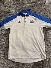 Adidas UCLA Polo Style Short Sleeve Shirt Size Medium