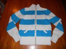 Ralph Lauren girls sweater size XL extra large 16 MINT cond cardigan blue white