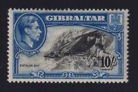 Gibraltar Sc #117a (1938) 10/- KGVI & Catalan Bay Perf 14 Mint VF H