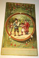 Rare Antique Victorian American Holiday Fair! Santa Claus Advertising Trade Card