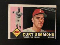 1960 Topps Curt Simmons #451 Philadelphia Phillies