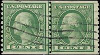 VEGAS - 1914-5 -Sc# 452 Used Joint Line Coil Pair - Perf 10 - SL WM - (DU69)