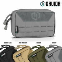 """""""LASER-CUT STYLE MOLLE"""" Tactical Admin Pouch Military Tool Modular Storage Bag"""