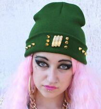 Vintage gold Aztèque pépite stud Beanie Hat street wear Gangster Hipster Indie Beanie