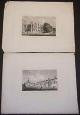 King's College Cambridge The New Quadrangle & Provost's Lodge Engravings