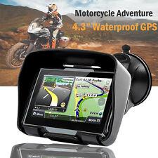4.3 inch Waterproof GPS 8GB Bluetooth Navigation SAT NAV Motorcycle Adventure AU