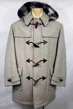 Mint VTG Mens The Hudsons Bay gray hooded duffle coat jacket size Medium Large