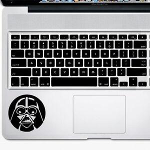 Use The Force Darth Vader Adesivo in vinile impermeabile come decorazione e divertente regalo 21 x 13 cm in nero WOO LANDO adesivo per coperchio interno