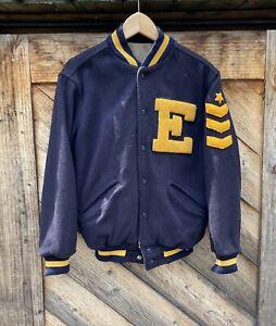 Vintage 50s Wilson Wool Military Varsity Letterman Jacket Size 42 USA Made