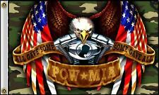 American Camouflage Powmia Eagle 3 X 5 Motorcycle Engine Biker Flag #404 New