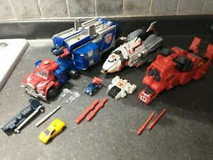 Transformers Armada Optimus Prime Jetfire Overload 100% Complete Loose