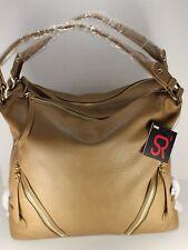 Sr2 Sondra Roberts New Large Taupe Faux Na Leather Handbag Dual Handles Srt02