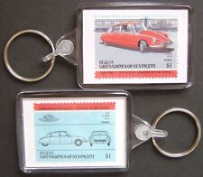 1955 CITROEN DS / DS19 Car Stamp Keyring (Auto 100 Automobile)