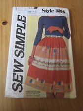 1981 vintage retro Style Sewing Pattern 3294 Misses Skirt Size 12-14-16