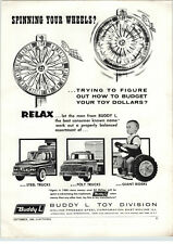 1960 PAPER AD Buddy L Toy Play Steel Trucks Giant Ride Em Tractor