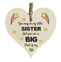 Big Sister Part Of My Life Quote Wooden Novelty Plaque Sign Gift htc32