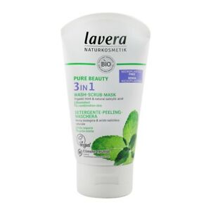 NEW Lavera Pure Beauty 3 In 1 Wash, Scrub, Mask - For Blemished & Combination