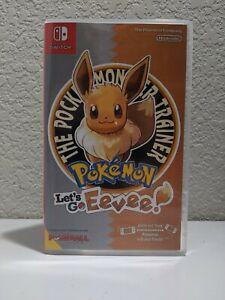 Pokemon Let's Go Eevee (Nintendo Switch, 2018) *Preownedw/ repro case